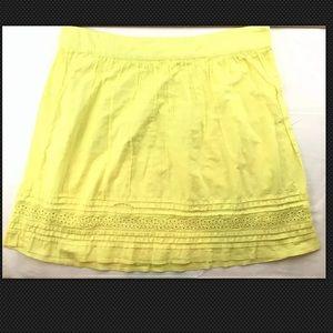 LOFT Ann Taylor Size 12 (large) Neon Yellow Skirt